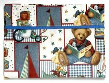 Toddler Pillowcase for Blue Jean Teddy on multi-color 100%Cotton #Bjt2 Handmade