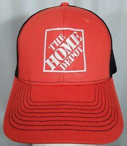 Home Depot TRUCKER Orange / Black Baseball Cap Adjustable Employee Work Wear