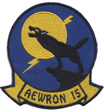 US Navy AEWRON 15 Early Warning Squadron Embroidered Patch ** LAST FEW **