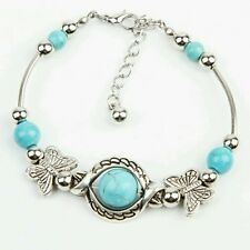 #3005 Newly Arrival Trendy Turquoise Mosaic Handmade Butterfly Bracelet