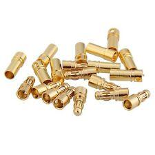 10 Pair 3.5mm Bullet Banana Plug Connector Male Female for Motor ESC Battery SH