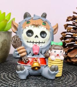 Furrybones Christmas Terror Krampus Naughty List Skeleton Furry Bones Figurine