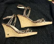 Preowned MICHAEL KORS Cork Wedge Sandal Heel Sz.9.5M