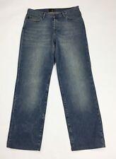 Roberto cavalli jeans uomo usato w34 tg 48 denim blu straight boyfriend T3441