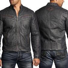 NEW Men's Affliction Black Premium Two Pistons Biker Jacket Black Size 2XL
