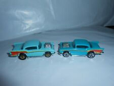 Lot Of 2 Vtg 1976 Hot Wheels 57 Chevy 2 Variations Malaysia Nice