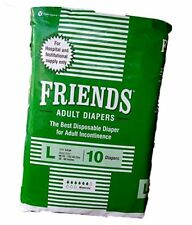Friends Adult Diapers For Unisex - 10 Diapers (Large) UNISEX FS