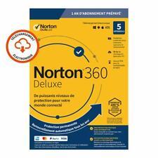 Norton 360 Deluxe 2021 5 App 5 PC 1 an PC MAC Internet Security FR EU 2020