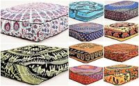 Mandala Floor Pillow 35X35 Indian Ottoman Large Pouf Cover Outddor Day Dog Bed