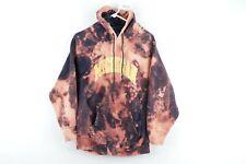 Vtg 90s Mens Small University of Michigan Spell Out Acid Wash Hoodie Sweatshirt