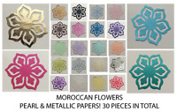 Moroccan Flower - Pearl & Shiny Paper! (30 pieces !) Multi Listing!