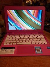 hp stream notebook pc 11 PINK Intel Celleron 64gb Windows 8.1
