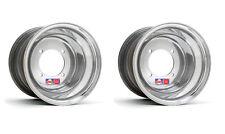 "DWT .190 Polished Red Label Rear Wheels Rims PAIR 9"" 9x9 Honda 450R 400EX 250R"