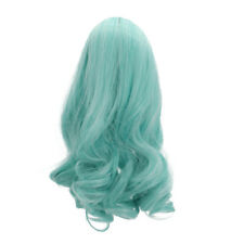 PaleGreen Wavy Curly Hair Wig for 18inch AG American Doll Doll Making Accessory