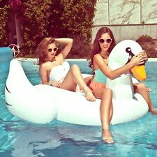 Inflatable Leisure Giant Swan Float Toys Rideable Swimming Pool Raft Celebrity