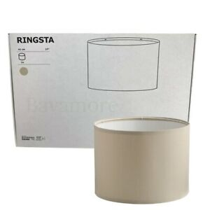 "IKEA RINGSTA Lamp shade Textile beige 17"" 604.053.66 BRAND NEW"