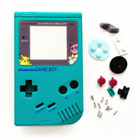 Teal Green Pokemen Housing Shell Case For Nintendo Game Boy Original DMG-01