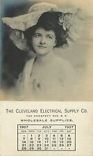 Lovely Lady, Cleveland Electrical Supply Co, July 1907 OH Ohio RPPC