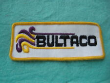 "Vintage Bultaco Motorcycle Racing Patch 4 3/4 "" X 2  """
