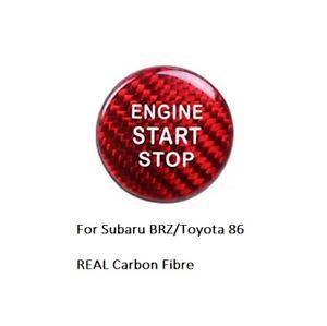 Subaru BRZ Toyota 86 REAL Carbon Fiber Engine Start/Stop Button RED