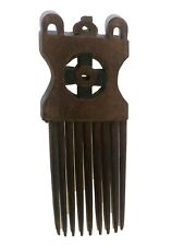"Ashanti  Old Hand Carved African Wedding Comb Ghana 8"" H"