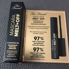 Too Faced Mascara Melt Off Cleansing Oil - TRAVEL SIZE .04 oz  - NEW IN BOX!!!