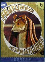 Topps Star Wars Card Trader featured creature gold gungan digital card