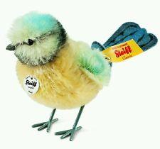 Steiff Piccy Blue Tit Plush Toy Yellow/Blue/White