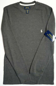 Polo Ralph Lauren Long Sleeve Heather Gray Shirt Mens Sleepwear Grey NWT NEW $55