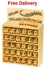 Personalised wooden name train : Use wooden letters to spell a personalised name