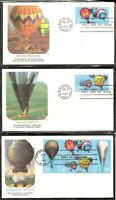 US SC # 2035a Balloons FDC . Albuquerque cancel. 5 Covers set .Fleetwood Cachet