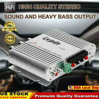 200W Hifi Cd Mp3 Radio Car Home Audio Stereo Bass Speaker Amplifier Booster 12V
