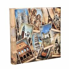"Vintage collage uk-european Voyage Album Photo Mémo pour 200 photos 4 x 6"" fb200"