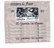 ESPAÑA EDIFIL 1981 - 5 HOJAS BLOQUE CENTENARIO DE PICASSO - CORRELATIVAS  MNH**