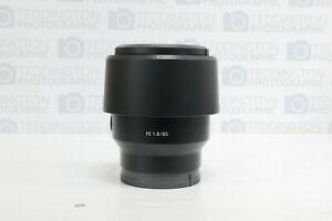 Sony FE 85mm f1.8 E Mount Lens + Hood