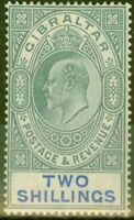 Gibraltar 1903 2s Green & Blue SG52 Fine & Fresh Mtd Mint (3)