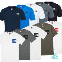 Mens T-Shirt The North Face Tee Cotton Dark Grey White Navy Black Blue Regular
