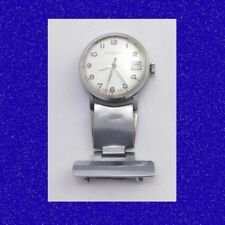 Retro Nurses Ingersoll 7 Jewel Swiss  Ladies Vintage Steel Fob Watch 1968
