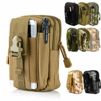 Tactical EDC Utility Water-Resistant MOLLE Bag Phone Belt Waist Pouch Organizor