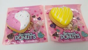 Creamiicandy Mini Heart Donut Bundle Squishy (Lot Of 2) Cell Phone Strap Scented