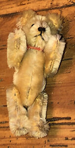 Antique Vintage 1950s miniature  Golden mohair Schuco Teddy bear Germany 3.5in