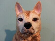 "12"" Tall  AKITA Dog Porcelain Ceramic Figurine Statute Quality DNC Collections"