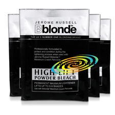 4x Jerome Russell Bblonde High Lift Powder Bleach 25g To Use With Cream Peroxide