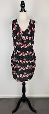 TOKITO Size 14 Women's Party/Cocktail Casual V-Neck Dress Multi-Coloured Floral