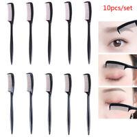 10pcs/set Black Extension Brush Eyelash Eyebrow Comb Lift Curl Eye Makeup Com BA