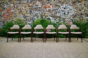 Kai Kristiansen for  Schou Andersen SVA Møbler Compass Danish Dining Chairs