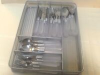 Farberware stainless w /  frosted handles & silver coiling service for 8  VGC