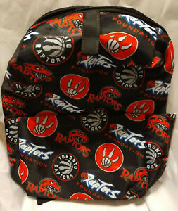 Toronto Raptors Backpack : NBA Premium Back Pack : Red black : Team Logo