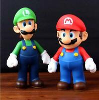2 x Nintendo New Super Mario Bros Brothers Luigi Toy PVC Action Figure Gift USA