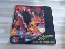 JAMES BOND 007 - Calendrier The world is not enough !!! 2000 !!!
